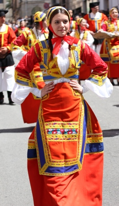 Girl wearing the traditional costume of Desulo (NU)