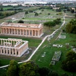 Campania - Paestum vista dalla mongolfiera