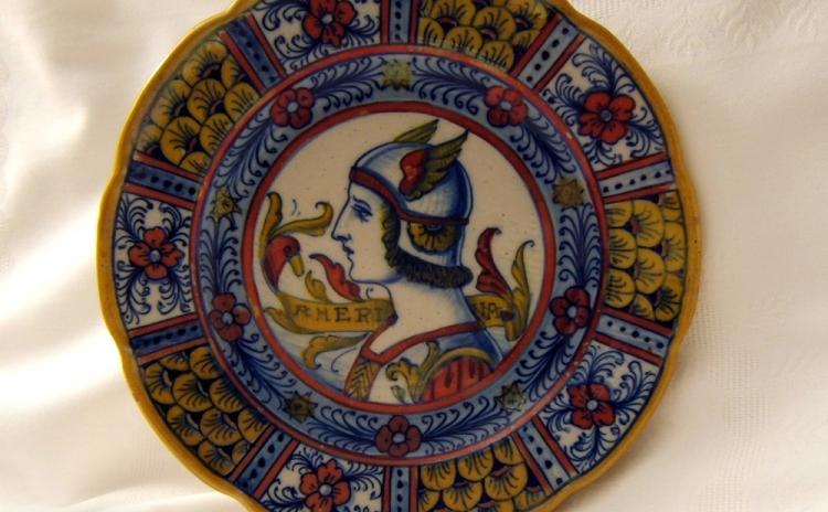 Umbria - Piatto di ceramica umbra