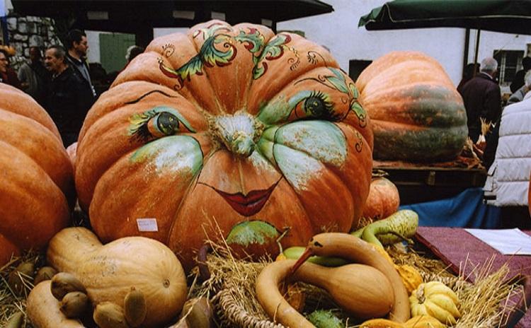 Friuli - Pumpkin Festival in Venzone Italy