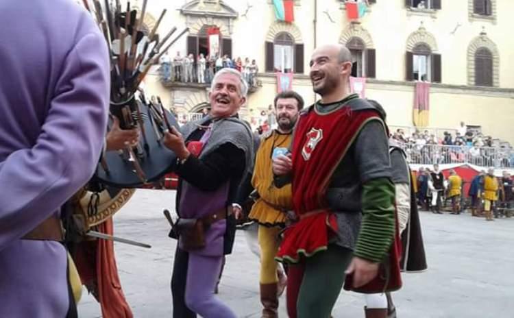 The Palio of the Crossbow in Gubbio in Umbria Region - Italy