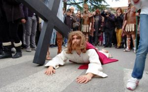 The Stations of the Cross in Barile Italy