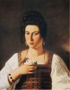 Caravaggio - Ritratto di Fillide Melandroni