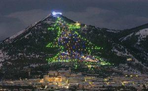 Albero di Natale - Vie del Presepe di San Martino - Gubbio - Umbria