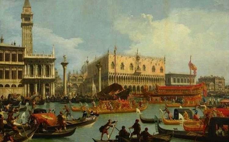 Canaletto - Il ritorno del Bucintoro al Molo
