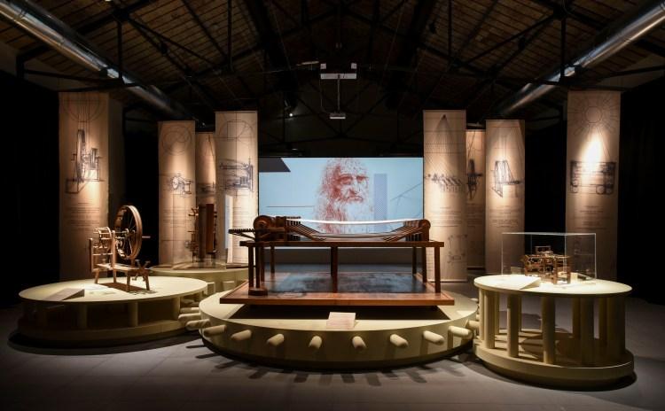 Leonardo da Vinci, l'ingegno, il tessuto Prato Toscana