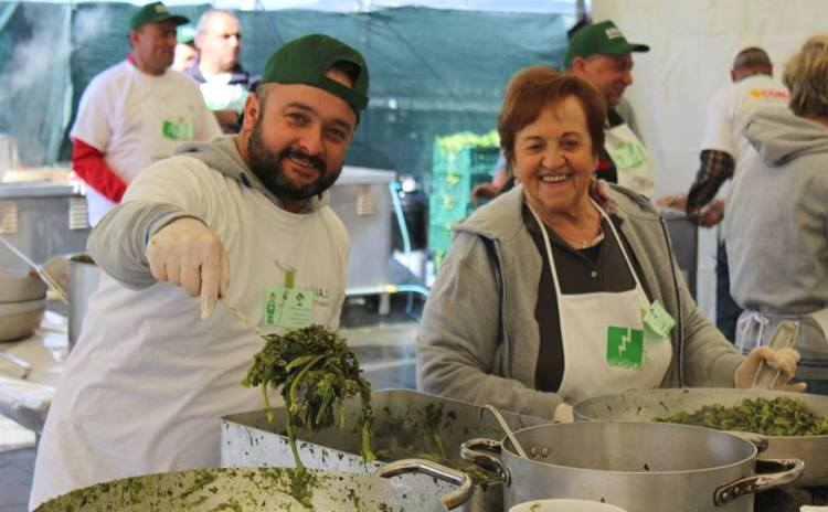 Broccoletti in piazza Anguillara Sabazia - Lazio