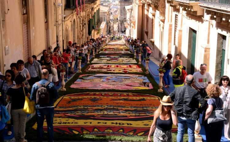 Infiorata Noto Sicily, Italy