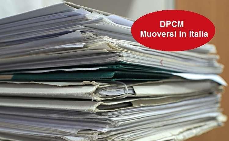 DPCM Muoversi in Italia