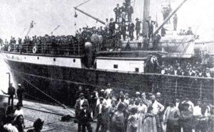 sbarco di migranti 1907